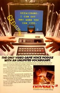Odyssey Speech Synthesizer Ad